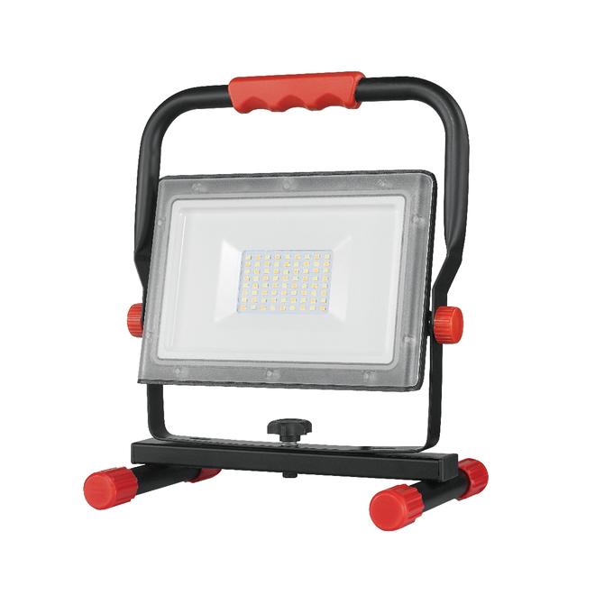 Globe LED Plug-In Portable Slim Line Work Light - 2500 Lumens - Red and Black