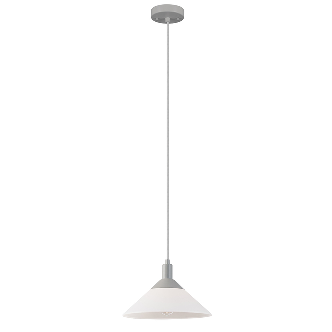 Globe Electric Harrow 2-in-1 Pendant Light - 59-in - Grey and White
