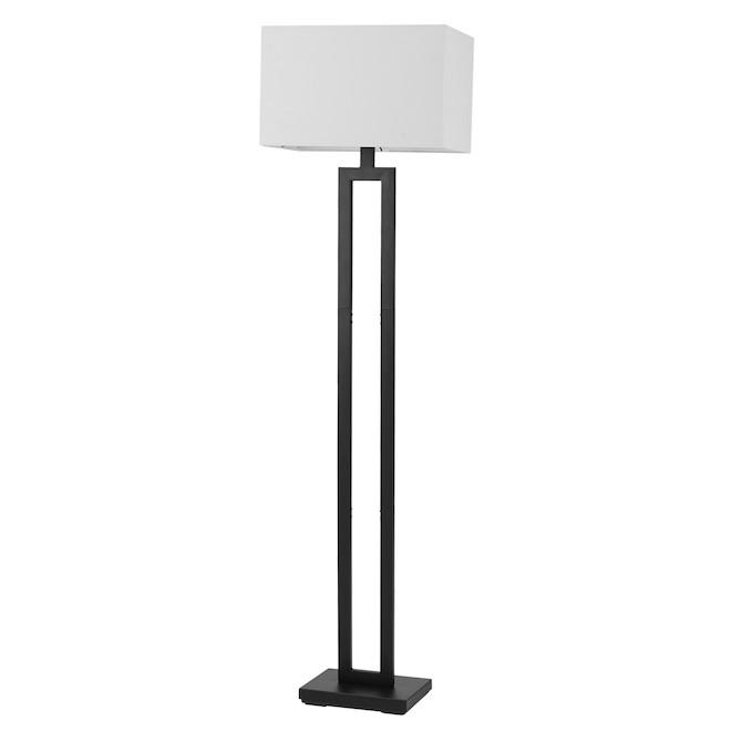 Lampe sur pied D'Alessio en métal de Globe Electric 58 po, noir mat