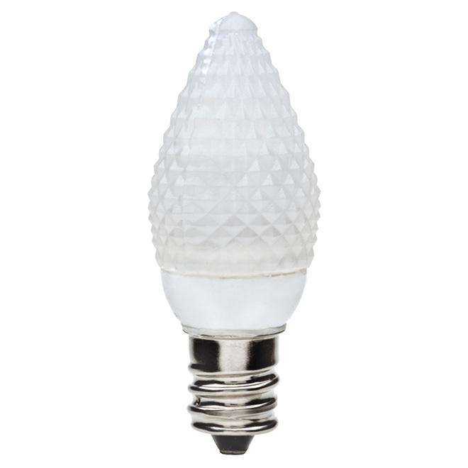 Ampoule DEL pour veilleuse, C7, E12, 1 W, blanc, paquet de 2