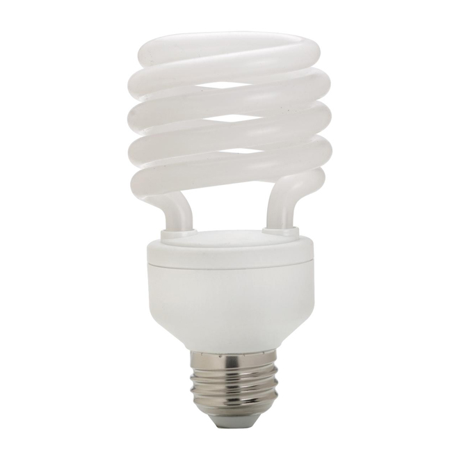 Globe CFL Bulb - 10,000 hours - T2 - E26 - 13 W - Soft White