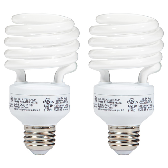 Fluorescent Bulb T2 23 W - Soft White - Pack of 2