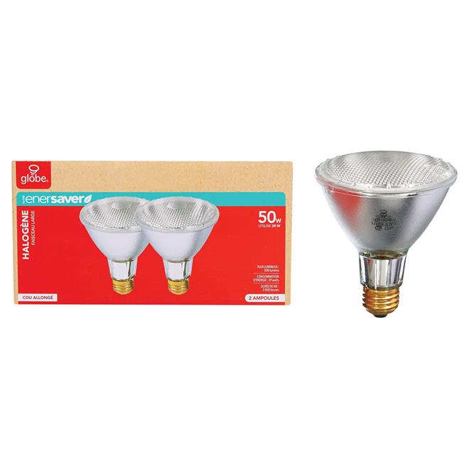 Ampoule halogène PAR30 39 W, transparente, paquet de 2