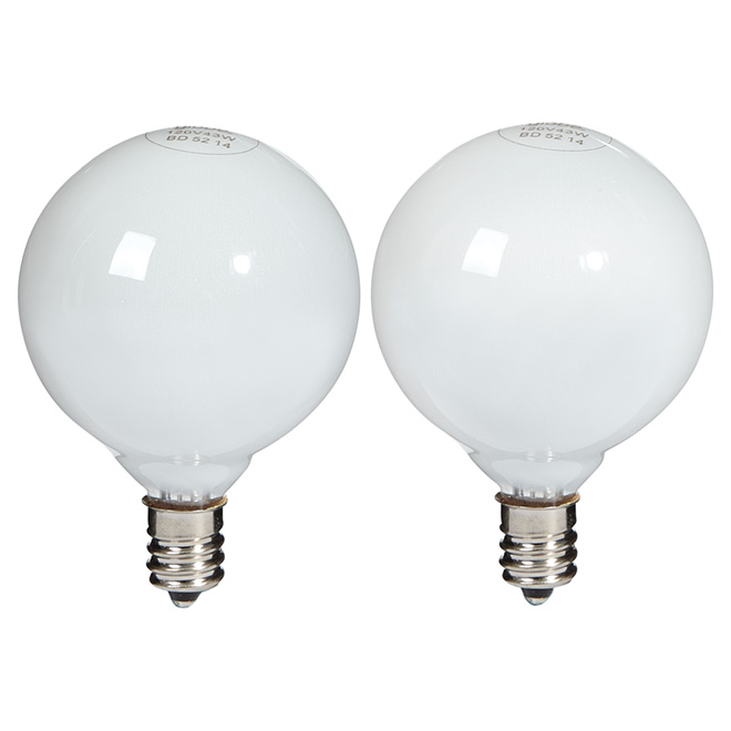 Paquet de 2 ampoules halogènes blanches G16,5 de 43 W