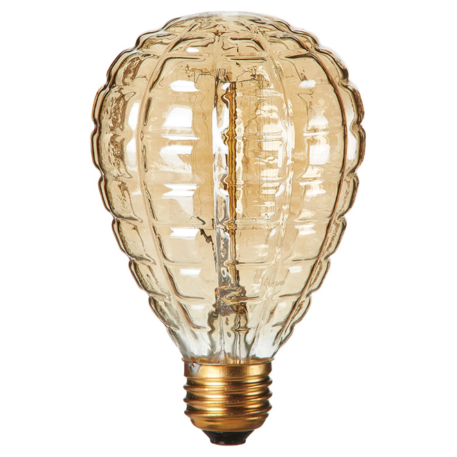 Ampoule incandescente rétro Globe, E26, 40 W, ambre