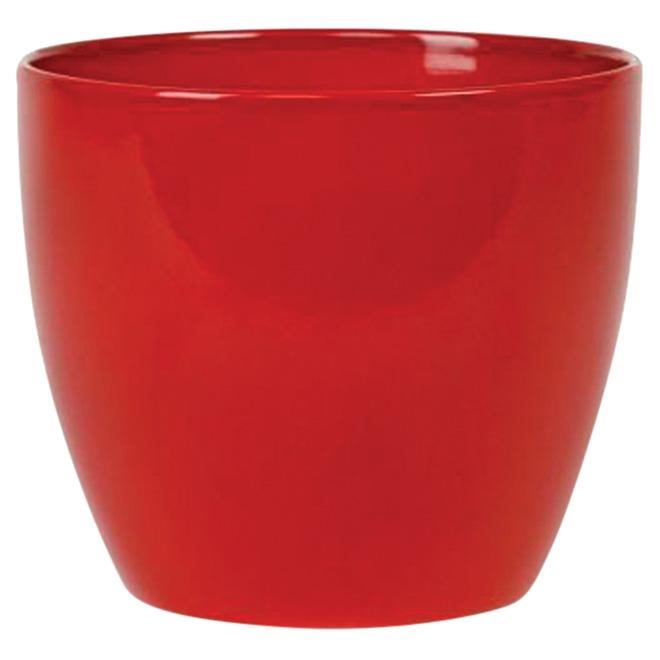 Cache-pot en céramique 16cm - Rouge vif