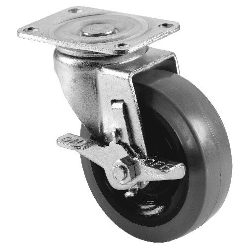 Roulette pivotante en métal, 4'', 250 lb
