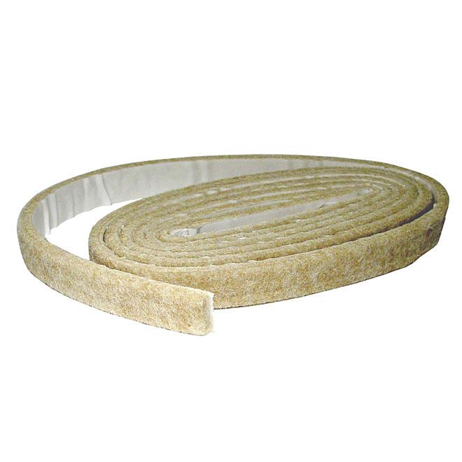 "Self-Adhesive Felt Pads - Strip - Beige - 1/2"" x 58"""