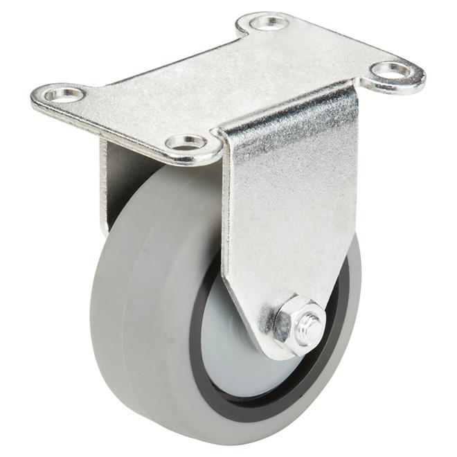 """Roulette en caoutchouc thermo gris sur plaque, 176 lb, 3"""""""