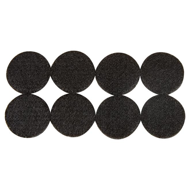 """Coussinets autoadhésifs Eco, ronds, noirs, 1 1/2"""", 8/pq"""