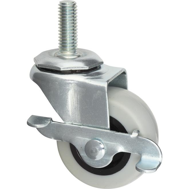 "Rubber Lock Caster - 2"" - Grey"