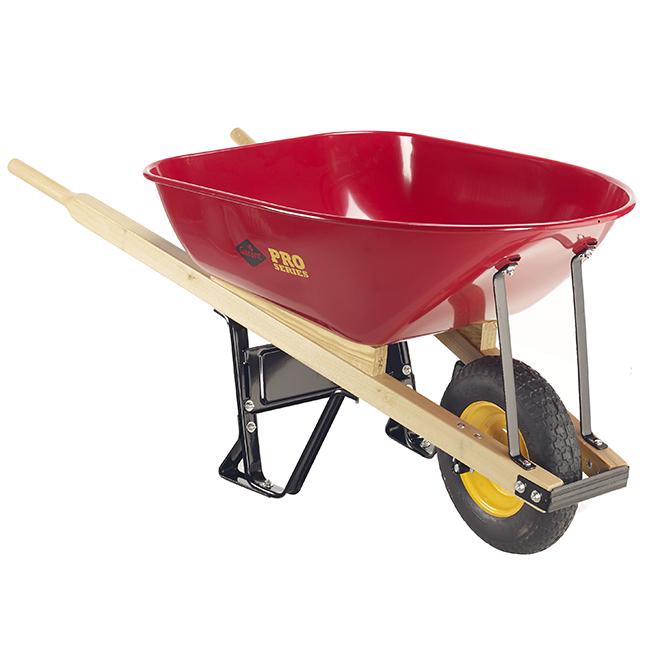 Pro Series Industrial Wheelbarrow with Steel Tray -6 cu. ft.