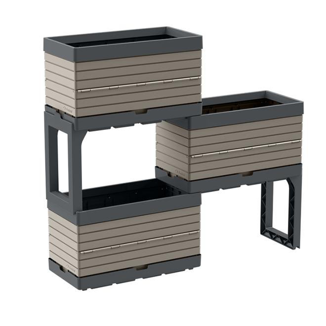 Garant - Built-In Drip Tray Modular Garden -  Greige