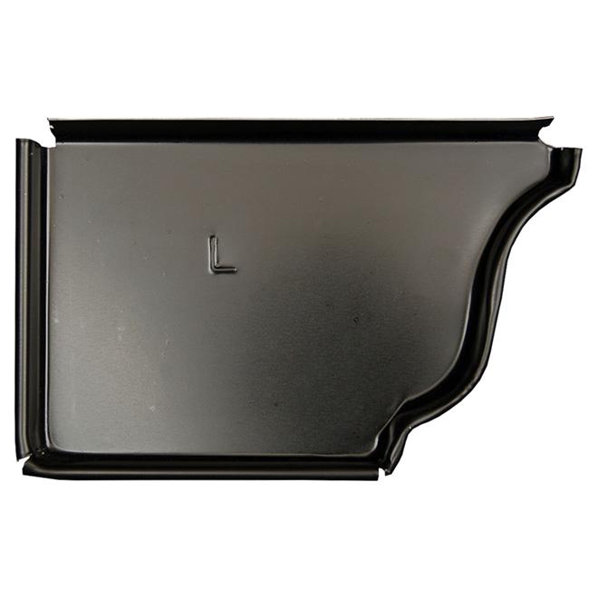 """Capuchon de gauche en aluminium K-Style, 5"""", noir"""