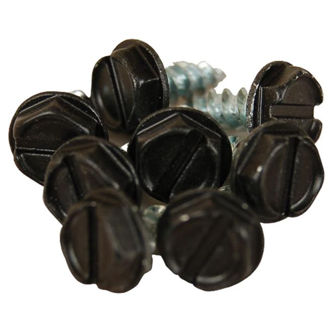 Vis à métal en aluminium, noir, 8/pq