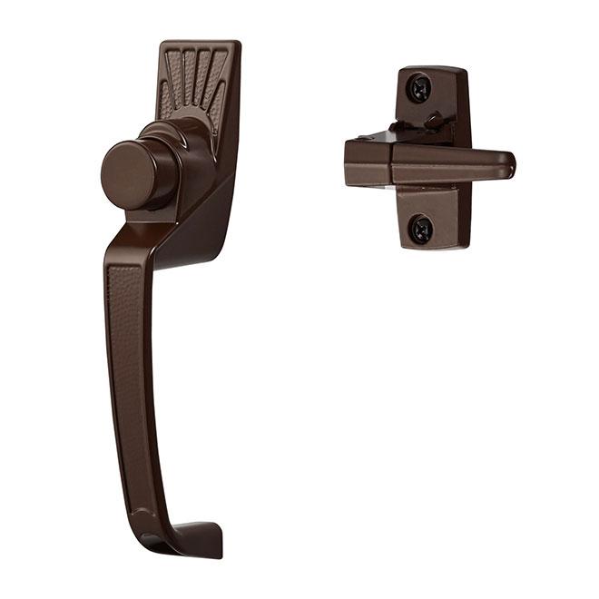 Loquet pour porte moustiquaire, brun