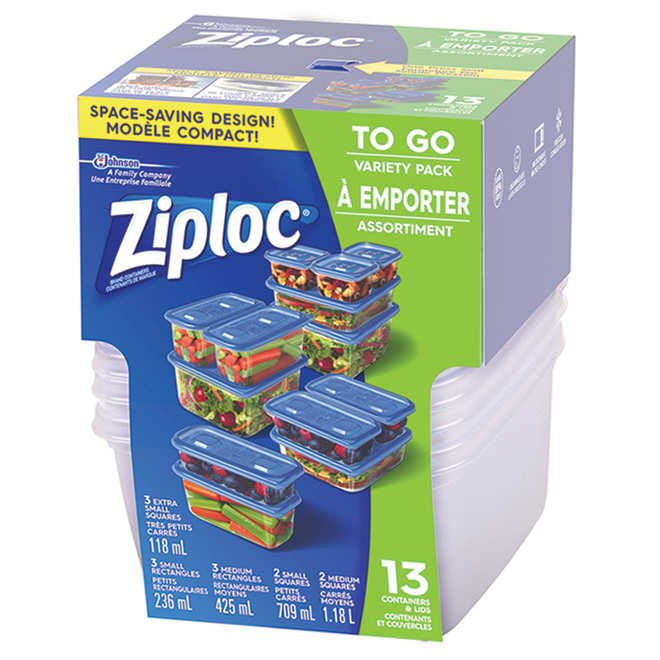 Ziploc Container To-Go Set - 13 Containers with Lids