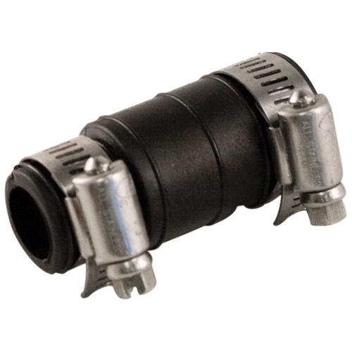 Dishwasher flexible drain connector