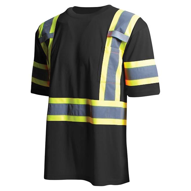 High Visibility Short Sleeve Shirt - 2XL - Black