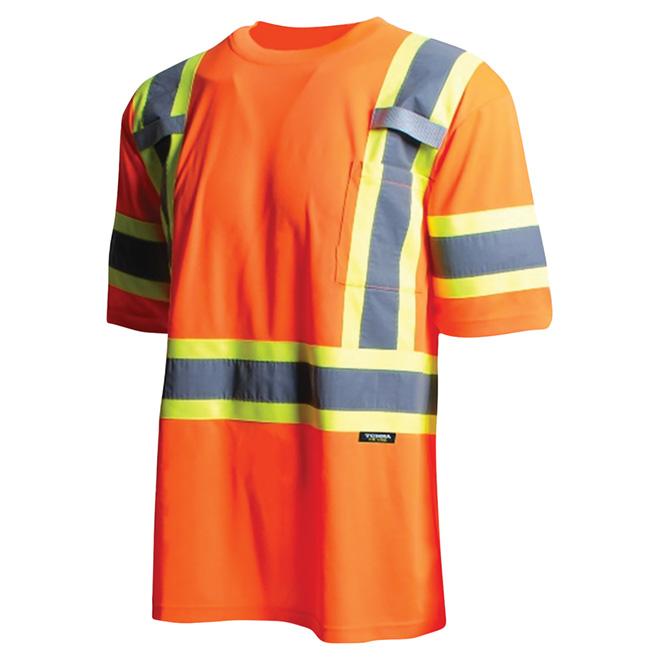 High Visibility Short Sleeve Shirt - Large - Orange