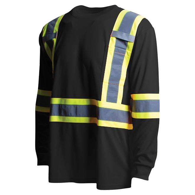 High Visibility Short Sleeve Shirt - XL - Black