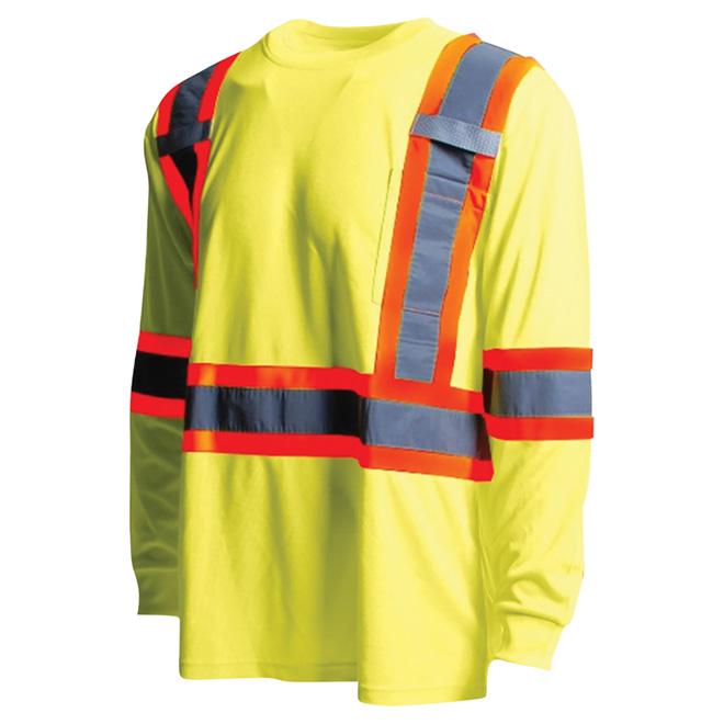 High Visibility Short Sleeve Shirt - XL - Yellow