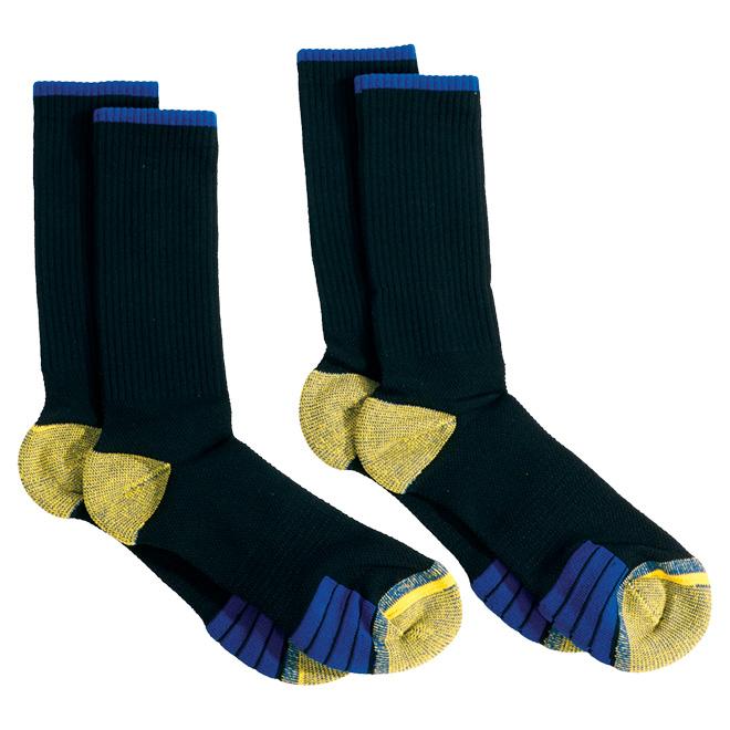 Polyester Work Socks - One size - Black