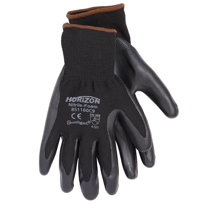 Men's Nitrile Coated Gardening Gloves - Black - L