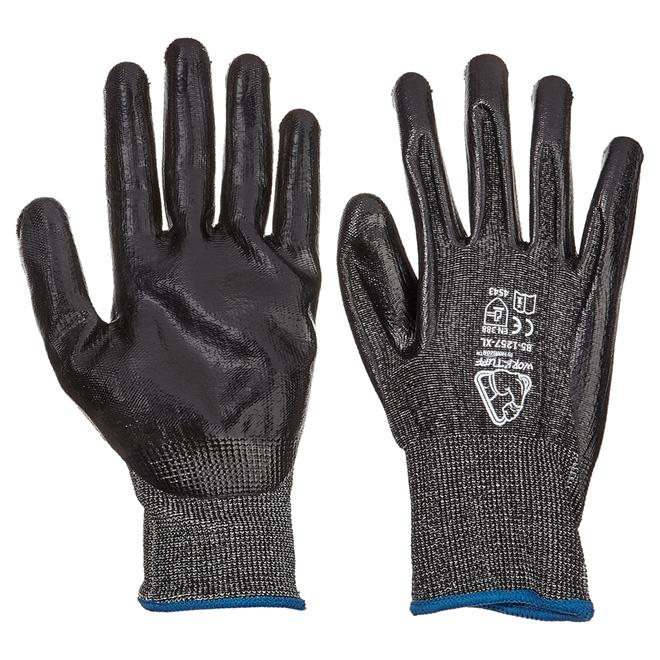Men's Level 5 Cut-Resistant Nitrile-Dipped Work Gloves - XL