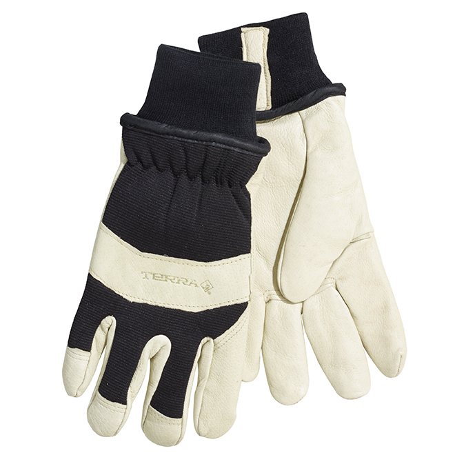 Men's Pigskin Leather Thinsulate Work Gloves - Brown - M