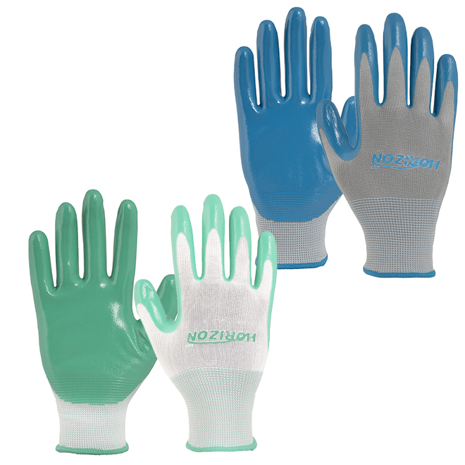 Garden Gloves - Medium-Large Size - Assorted Colours