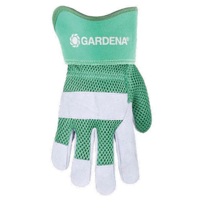 Gardena Women One Size Fits All Green Leather Garden Gloves