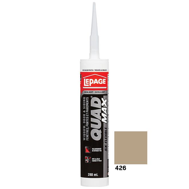 Scellant portes et fenêtres QUAD MAX, 280 ml, sable