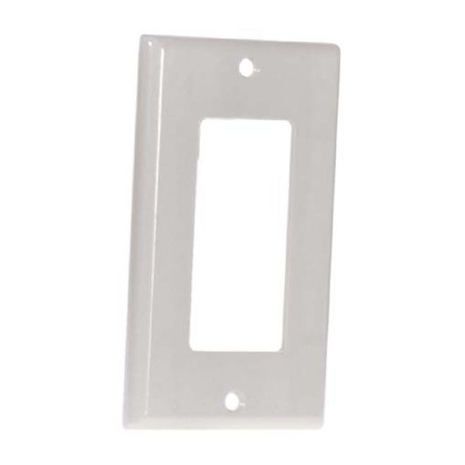 Plaque décorative d'interrupteur simple Eaton, polycarbonate, résidentiel, 4 7/8 po H. x 3 1/8 po l. x 7/32 po p.