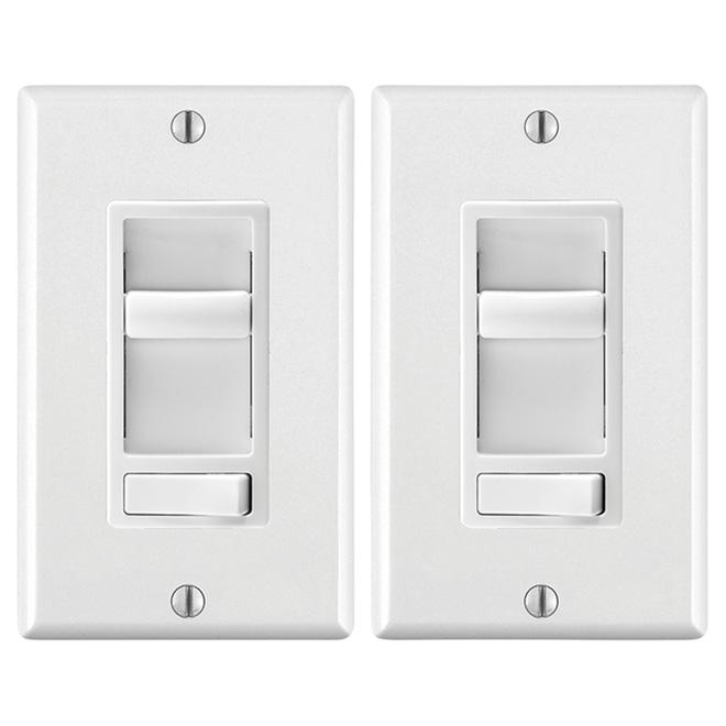 Universal Dimmer - White - 2-Pack