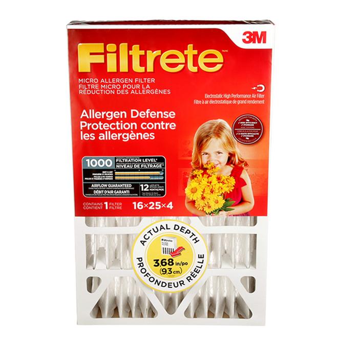 Filtre allergène