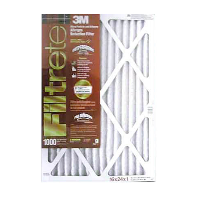 Filtre à air plissé Filtrete électrostatique à réduction des allergènes, 24 po x 16 po x 1 po, 1000 MPR