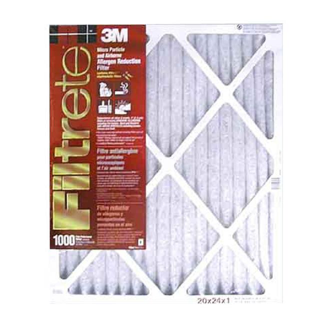 Filtre à fournaise Filtrete à réduction des micro-allergènes, 20 po x 24 po x 1 po