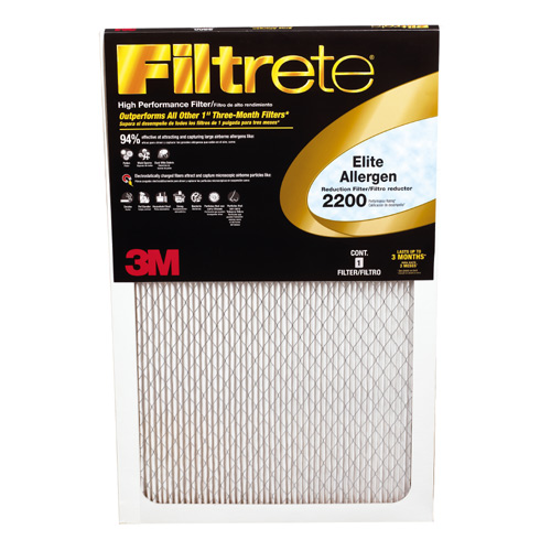 Filtre à fournaise Filtrete en fibre de verre, 20 po x 20 po x 1 po
