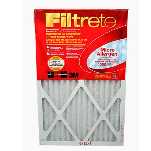 Filtre à fournaise Filtrete en fibre de verre, 11 po x 20 po x 1 po