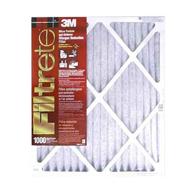 3M Filtrete Furnace Filter - Fibreglass - 12-in x 24-in x 1-in - 1000 MPR