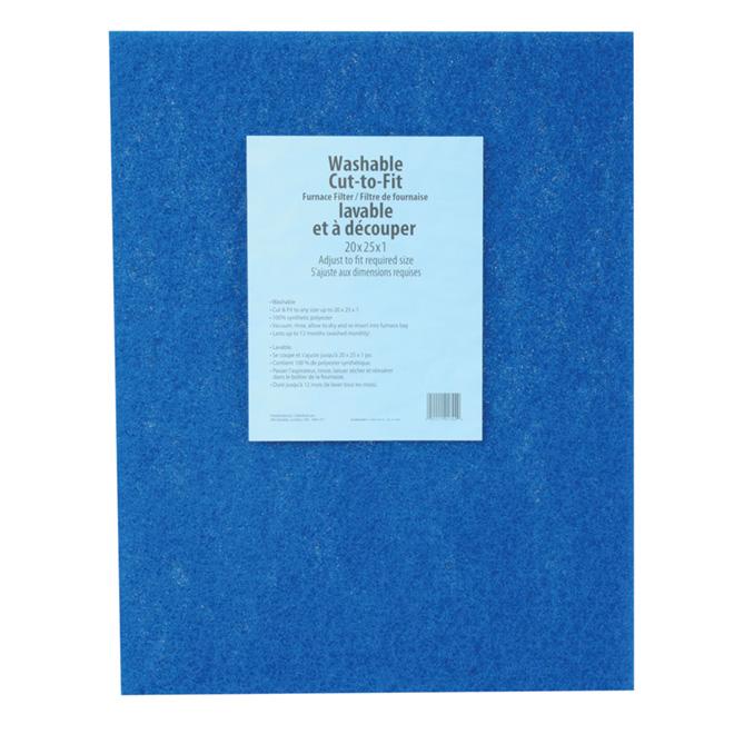 3M Washable Furnace Filter - Fiberglass - 20-in x 25-in x 1-in - Blue