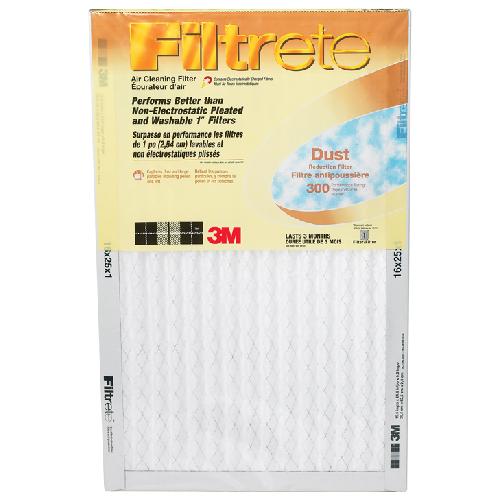 Filtre à fournaise Filtrete antipoussière en fibre de verre, 14 po x 25 po