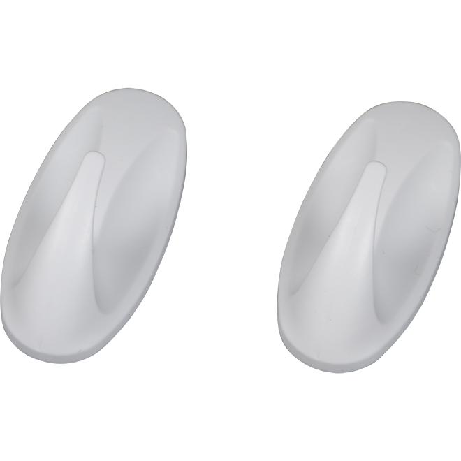 Hooks - Small - White - 2 Hooks