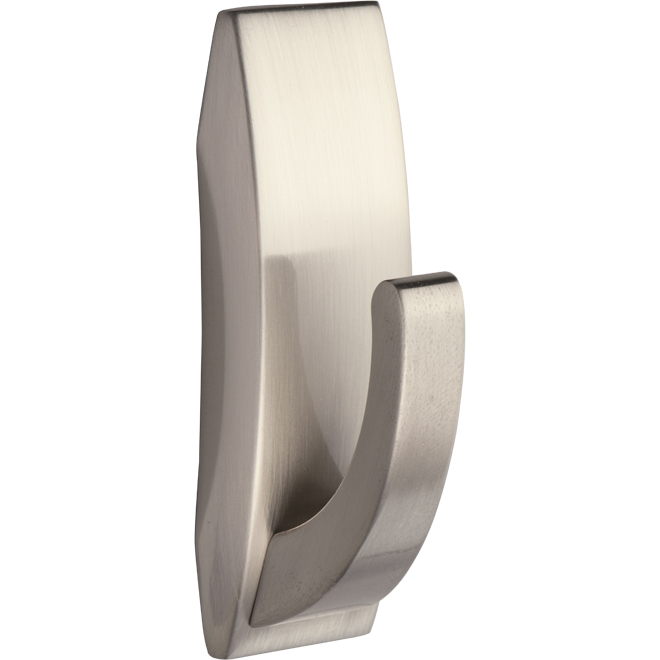 Medium Bathroom Hook - Satin Nickel - 1/Pack