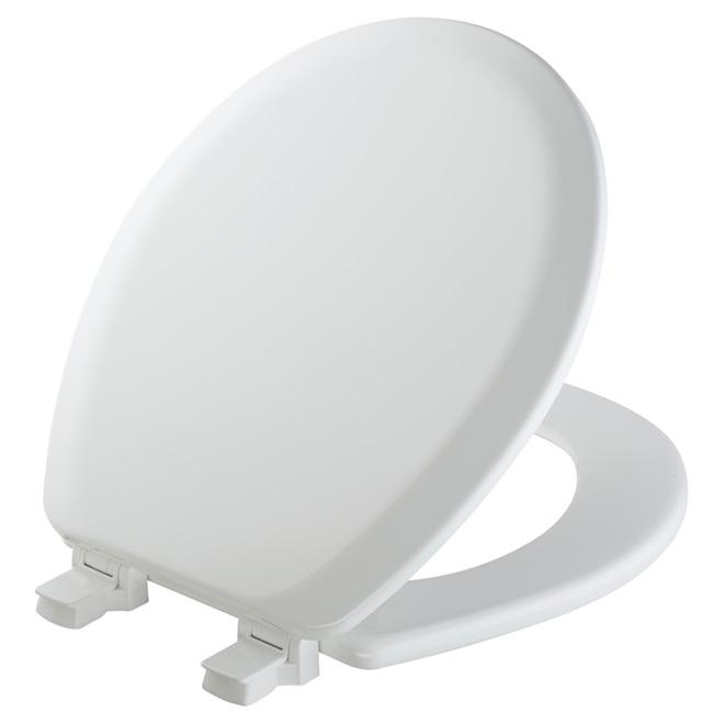 Siège de toilette en bois, régulier, blanc