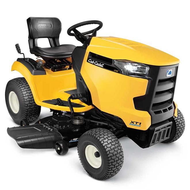 """Tracteur à gazon Cub Cadet XT1, 547 cc, 42"""", acier, jaune"""