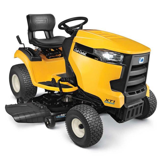 Tracteur à gazon Cub Cadet XT1 LT46, 19,5 hp - 46'', jaune
