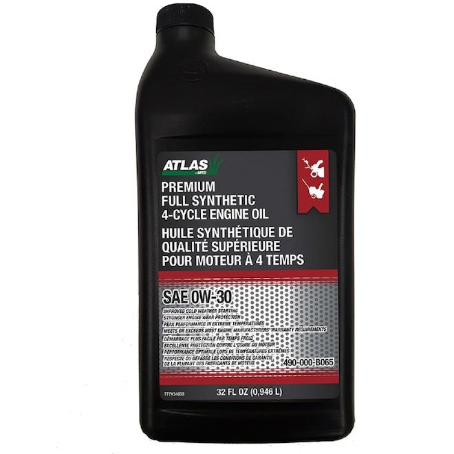 Huile à moteur, Atlats, 4-temps SAE 0W-30, 946 ml