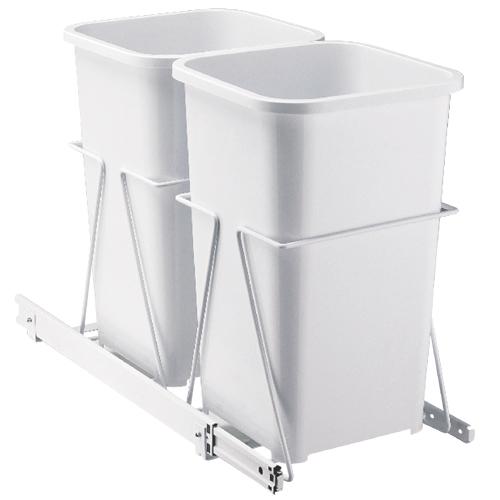 Système de poubelle coulissante à montage sous l'armoire